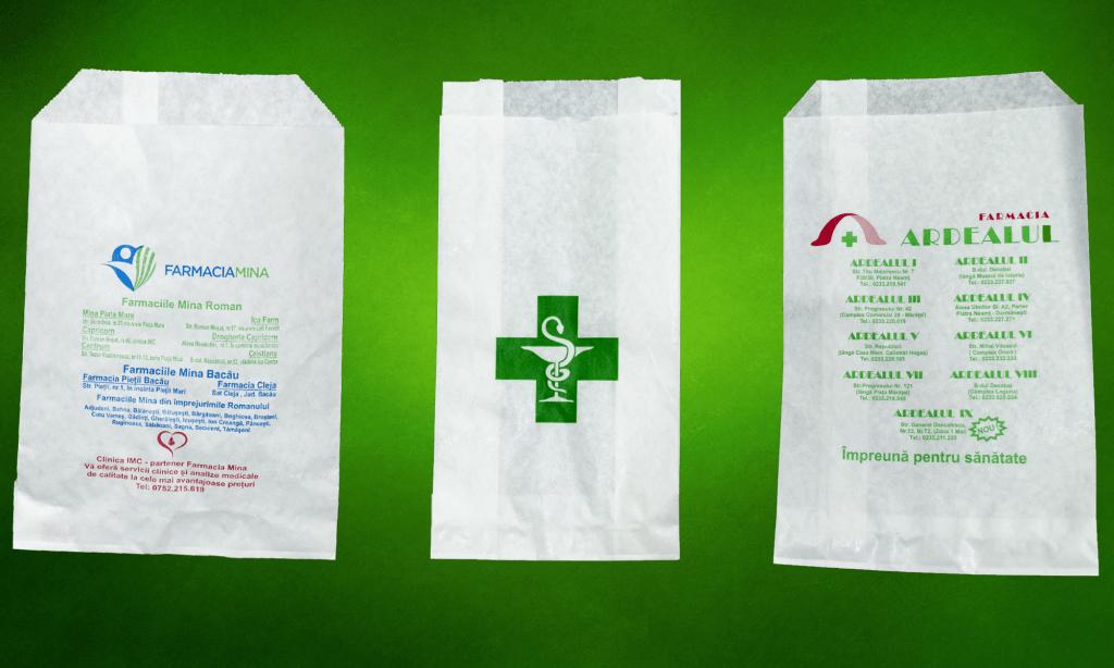 pungile de plastic farmacie